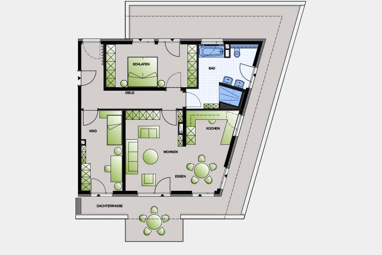 128,31 m² / 3 Zimmer-Wohnung