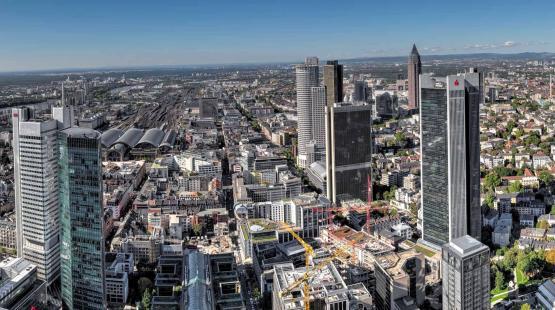 Die Skyline von Frankfurt am Main
